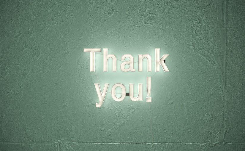 An unsere Spender: Wir möchten uns einfach mal bedanken.
